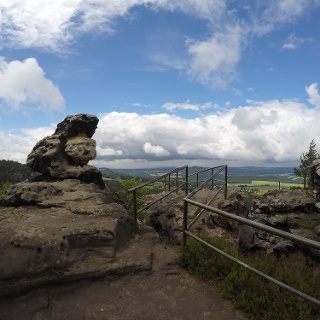 On top of the Papststein