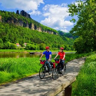 Elberadweg in der Sächsischen Schweiz