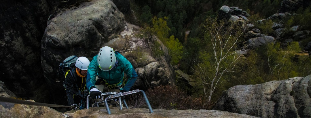 Häntzschelstiege Abstieg über die Wilde Hölle