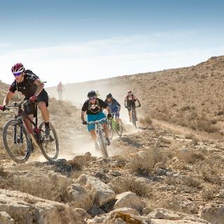 Mountainbiken in der Negev-Wüste