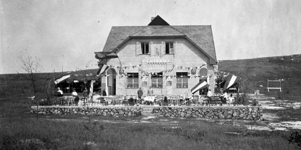 A Zsíros-hegyi turistaház 1929-ben