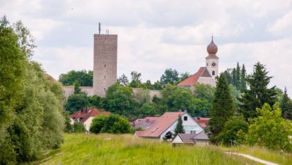 Vohburg mit Kirche und Burg