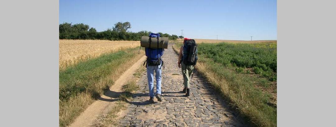 Zwei Pilger auf der Bonifatius-Route