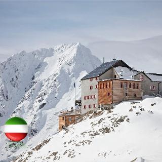 Schutzhütte Schöne Aussicht 2845 M Talseite Flagge