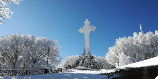 Vetta del Monte Amiata con Neve