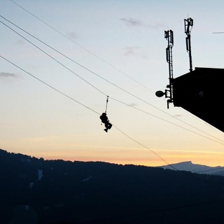 ICO Skywalk Hochseilgarten: Andrenalin im Flying Fox