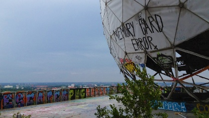 On top of the Teufelsberg at the former radomes