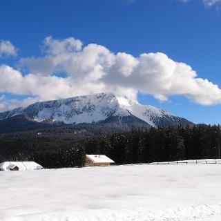 Malga Costa ans Pala di Santa Peak