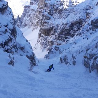Einfahrt ins Val di Mesdi unterhalb der Boehütte
