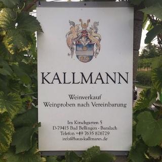 Schild Kallmann Weinbau