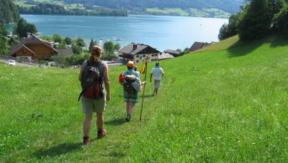 Abstieg zum Wolfgangsee
