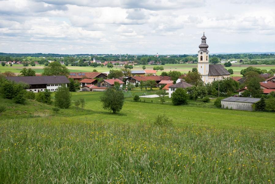 Jakobsweg Etappe 16 - Von Tuntenhausen zu den Bergen im Mangfalltal