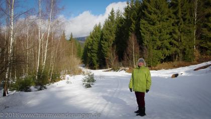 Winterwanderweg mit Traumwanderin
