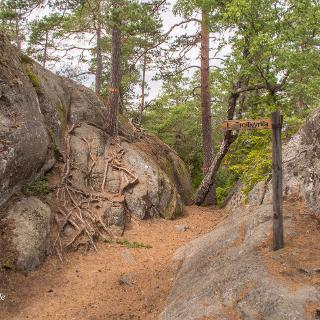 Tiveden Nationalpark Lilla Trollkyrka