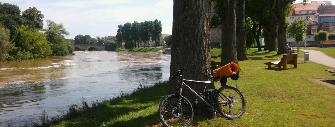 Kurze Rast in Lauffen am Neckar