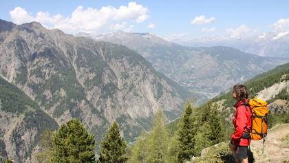 Ausblick vom Gsponer Höhenweg.