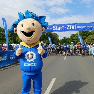 Start der Mitgas-Tour beim LVZ-Fahrradfest