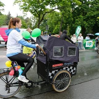 Impression von der Familientour beim LVZ-Fahrradfest
