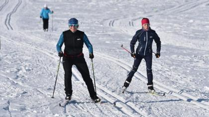 Skifahrer in Schellerhau
