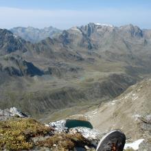Blick vom Gipfel Richtung Ötztaler Alpen