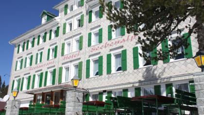 Fassade vom Hotel Seebenalp.