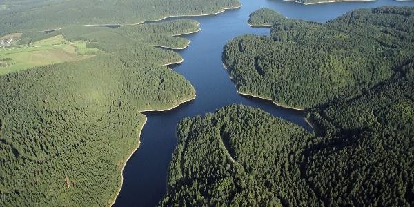 fjordähnliche Talsperre Eibenstock