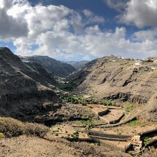 Einstieg in den Barranco de Azuaje