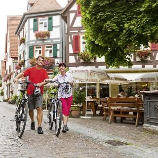 Radfahrer in Besigheim