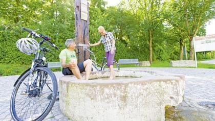 Erfrischung am Brunnen in Vaihingen