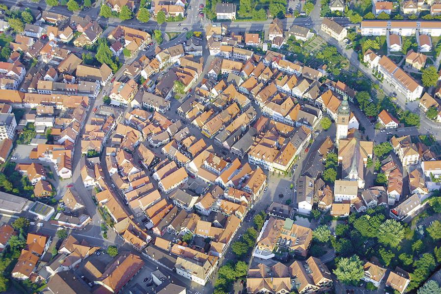Luftbild von Haslach im Kinzigtal