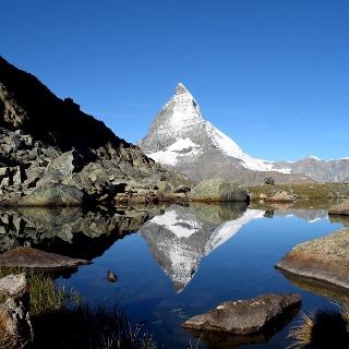 Riffelsee mit Matterhorn-Spiegelung