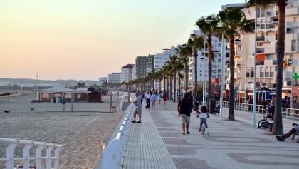 Am Strand Valdelagrana in El Puerto de Santa María