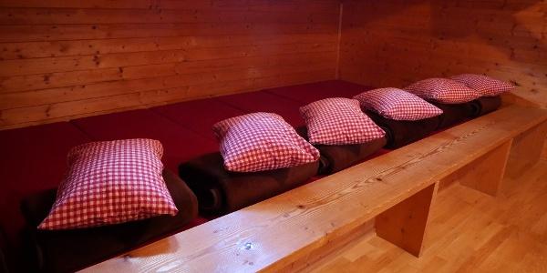 Matratzenlager im Brünnsteinhaus
