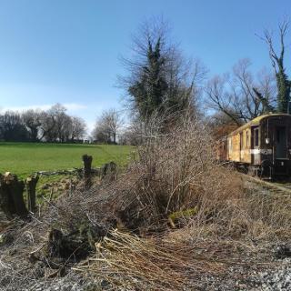 Oude spoorlijn nabij hombourg