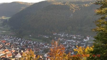 Ansicht Stadt Nusplingen von oben