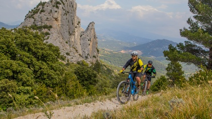 Mountainbiken in den Dentelles de Montmirail