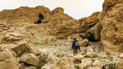 בשטח ניתן למצוא מספר מערות החצובות בסלעים