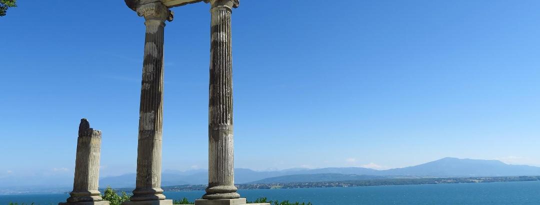 Römische Säulen in Nyon.