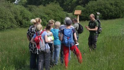 Exkursion in der Bergbaulandschaft Frohnau
