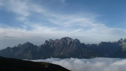Aussichtsreich, von der Sillianer Hütte gegen die Sextener Dolomiten