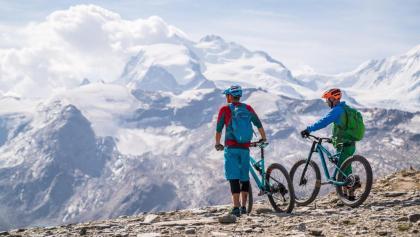 Panorama Bike: Aussicht auf die umliegenden Berge und Gletscher
