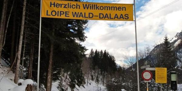 """Start bzw. Endpunkt der Loipe """"Alfenz"""" bei der Sonnenkopfbahn"""