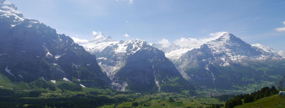 Panorama mit Eiger