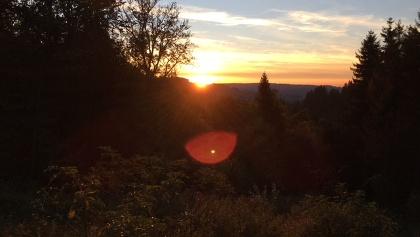 Sonnenuntergang an der Alpe Hohenschwand