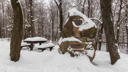 Tirts Rezső emlékműve a Rezső-kilátónál