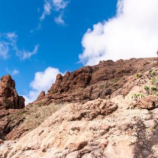 Genusswandern beim Abstieg nach Cruz Grande