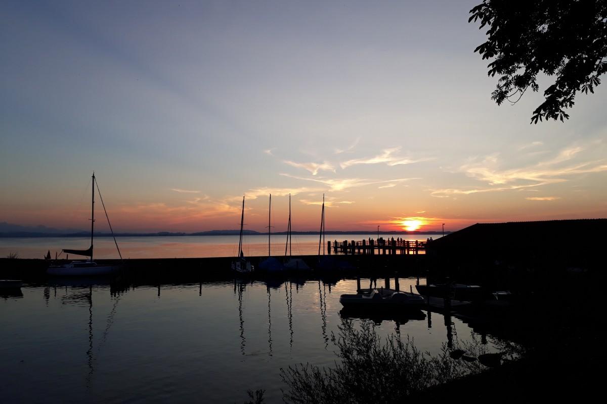 Sonnenuntergang Chieming