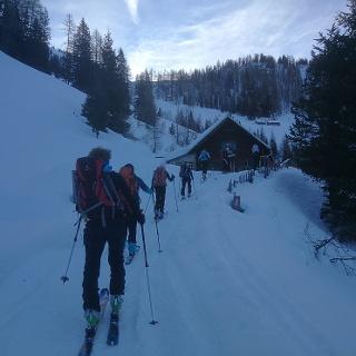 Aufstieg Schönwetterhütte 1442m
