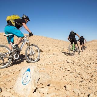 Wegmarkierung auf dem Israel Bike Trail