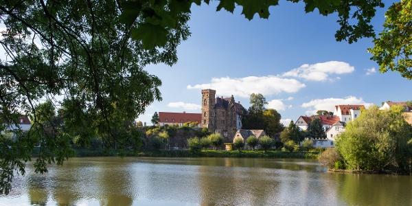 Ronneburg - Blick zum Schloss